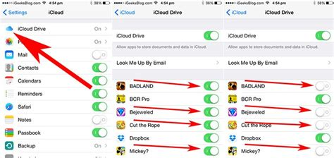 how to access icloud on iphone disable apps access to icloud drive on iphone