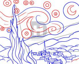 Drawing Easy Draw Starry Night