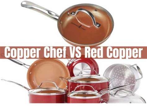 copper chef  red copper      cookware set