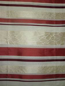 Stoff Auf Rechnung : deko stoff gardine vorhang querstreifen rot beige transp meterware ebay ~ Themetempest.com Abrechnung