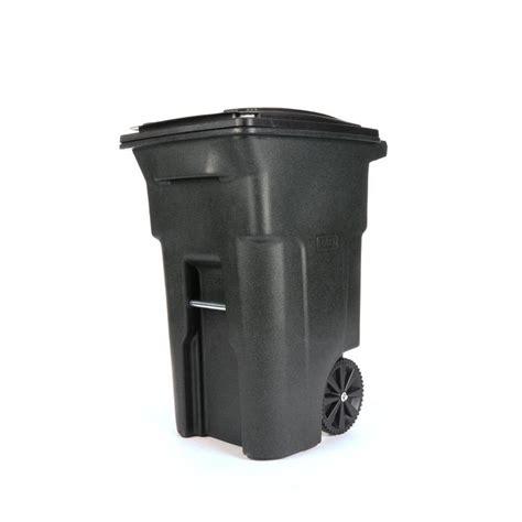 garbage disposal reviews shop toter 64 gallon greenstone plastic wheeled trash can