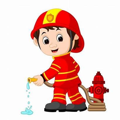 Fireman Firefighter Cartoon Vector Clipart Animated Firemen