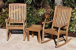 Teak, Rocking, Chairs, U0026, 45cm, Side, Table, Set, U2013, Oceanic, Teak, Furniture