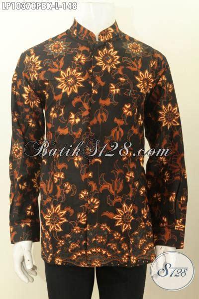 baju kemeja batik pria ukuran l hem batik jawa tengah nan mewah desain krah shanghai