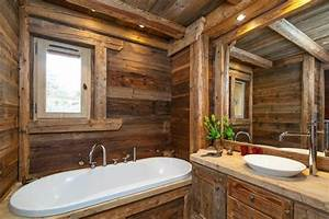 decoration interieur chalet montagne 50 idees inspirantes With salle de bain montagne