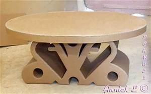 Meuble En Carton Design : table basse en carton table de salon ~ Melissatoandfro.com Idées de Décoration