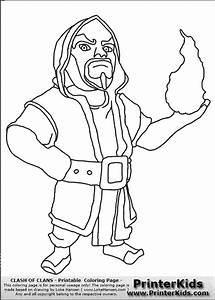 Clash Of Clans - Wizard - Coloring Page | Clash of clans ...