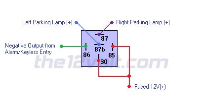 Aux Light Wiring Diagram 5 Wire Relay by Light Flash Two Wire German Vehicles Negative Output
