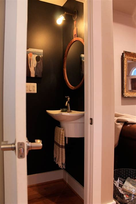 Best 25+ Black Powder Room Ideas On Pinterest Pvc