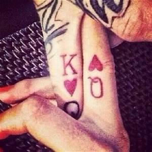 King queen ring finger tattoo | Tattoos | Pinterest
