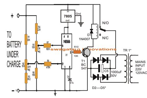 Controlled Lead Acid Battery Charger Circuit