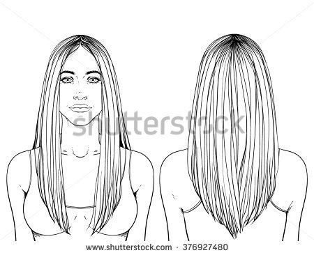 drawn long hair straight pencil   color drawn long