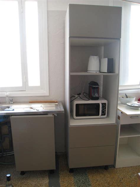 meuble cuisine pour micro onde meuble haut four encastrable