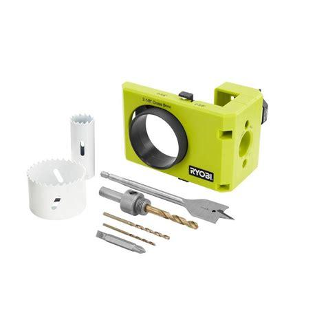 door lock installation kit ryobi wood metal door lock installation kit a99dlk4 the