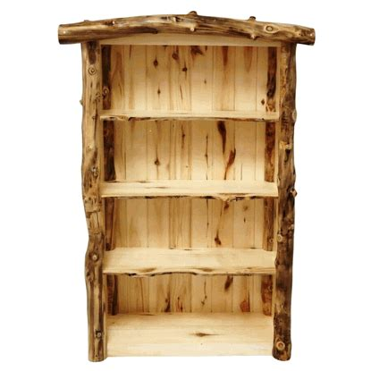 Log Bookcase by Aspen Grizzly Log Bookshelf Bookcase