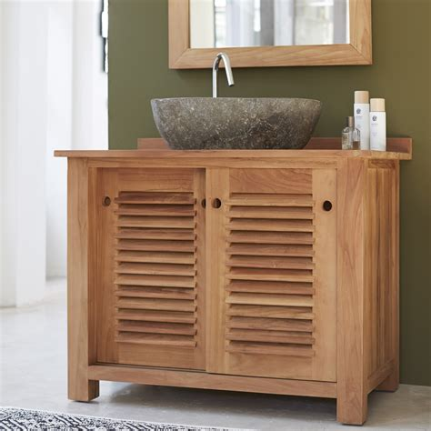 bureau en teck meubles salle de bain en teck meuble sous vasque coline