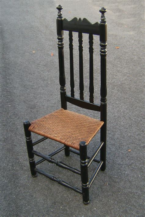 american colonial bannister back side chair c1740 for sale