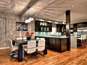 table cuisine moderne design cuisine gris anthracite avec With deco cuisine avec table À diner