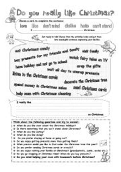 english worksheets talk about christmas gerund after verbs