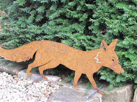 Garten Deko Fuchs by Edelrost Fuchs Auf Querstange Garden Dekoshop