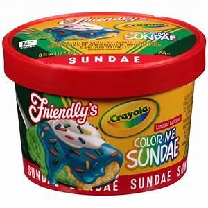 Friendly's Crayola Color Me Sundae Limited Edition Ice ...