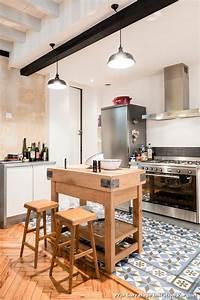 prix carrelage imitation parquet with industriel salle de With carrelage cuisine imitation parquet