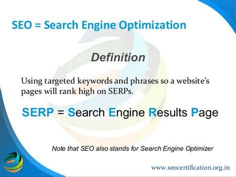seo optimization definition search engine optimization beyond meta tags