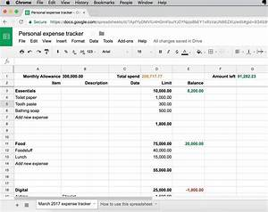 Daily Spending Tracker Spreadsheet Here 39 S A Simple Personal Expense Tracker Anyone Can Use