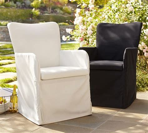 slipcovered indoor outdoor dining chair pottery barn