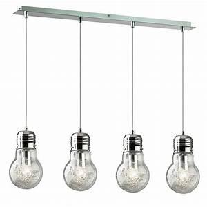 Luminaire Suspension Design : lampe suspension design luce 4 ampoules luminaire pinterest suspension design lampe ~ Teatrodelosmanantiales.com Idées de Décoration