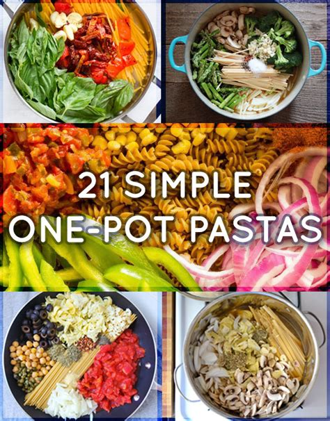 easy one pot recipes 21 simple one pot pastas