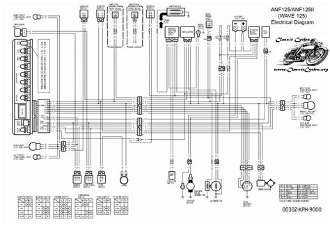 honda motorcycle wiring diagrams anf125 wave 125