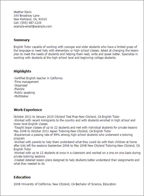 time esl cover letter professional tutor templates to showcase your