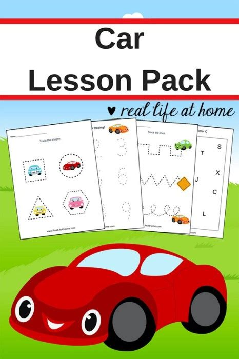 car worksheets free basic skill printables for preschool 494 | Car Printables Graphic