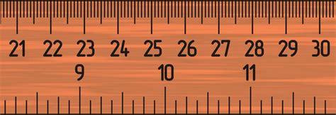 ruler measurements actual size