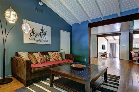 stylish modern ranch home interior  bright color