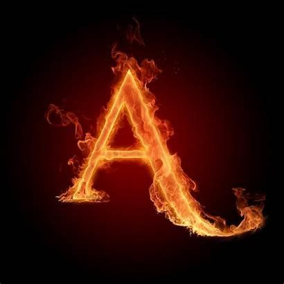Alphabet Fire Letter Alphabets Background Letters Scarlet