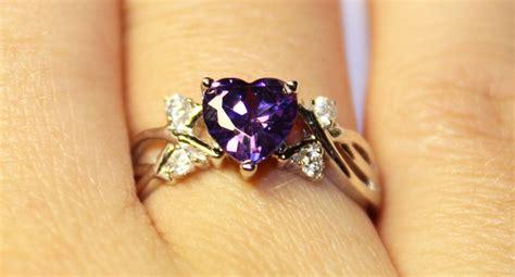 Amethyst (purple) Heart Shaped Promise Ring  Beautiful. Engagement Ring With Wedding Band. Ruby Diamond Pendant. Neck Necklace. Exotic Wedding Rings. Horseshoe Brooch. Vertical Gold Bar Pendant. Bangle Bracelet Jewelry. Hamsa Necklace