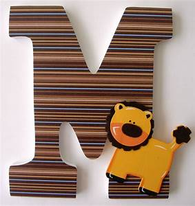 custom wooden letters for boys nursery safari animals lion With boys wooden letters