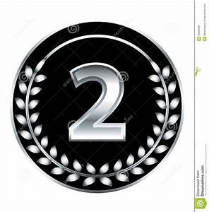 Number two medal stock vector. Image of champion, black ...