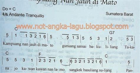 not pianika kuang nan jauh dimato not angka kuang nan jauh di mato kumpulan not angka lagu