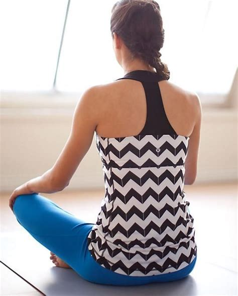 Lululemon chevron pattern tank top exercise shirt clothes cute running jogging   Gym Clothes ...