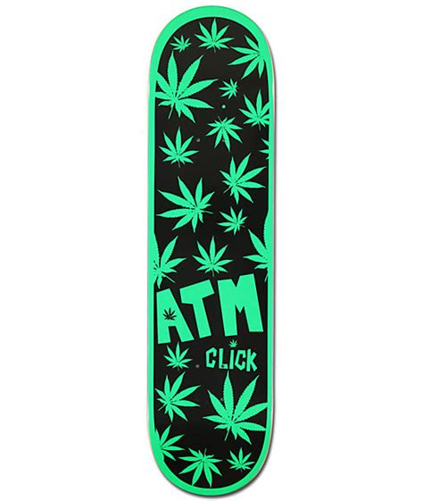 "Atm One Hit Wonder 80"" Weed Print Skateboard Deck At"