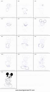 How to Draw Mickey Mouse printable step by step drawing ...
