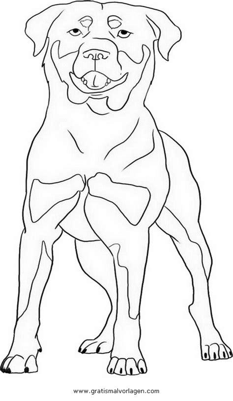 rottweiler  gratis malvorlage  hunde tiere ausmalen