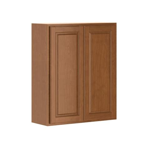 home depot cognac cabinets hton bay madison assembled 30x36x12 in wall cabinet in