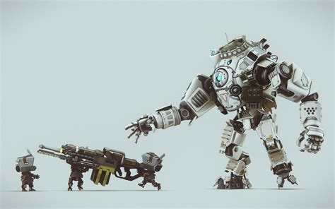 Anime Weapon Wallpaper - titanfall anime rifles digital slid3 robot