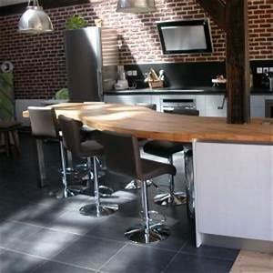 Plan De Travail Bois Sur Mesure : cuisine flip design boisflip design bois ~ Premium-room.com Idées de Décoration