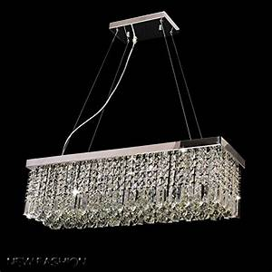 Dst modern luxury rain drop rectangle clear k crystal