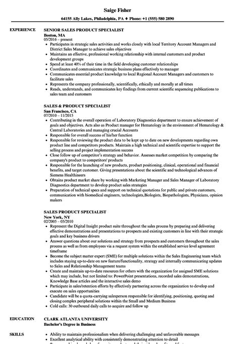 Resume Specialist by Sales Product Specialist Resume Sles Velvet